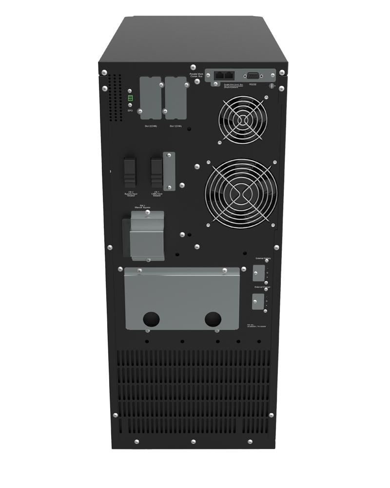 Borri UPS LeonardoT 6-10 kVA rear view