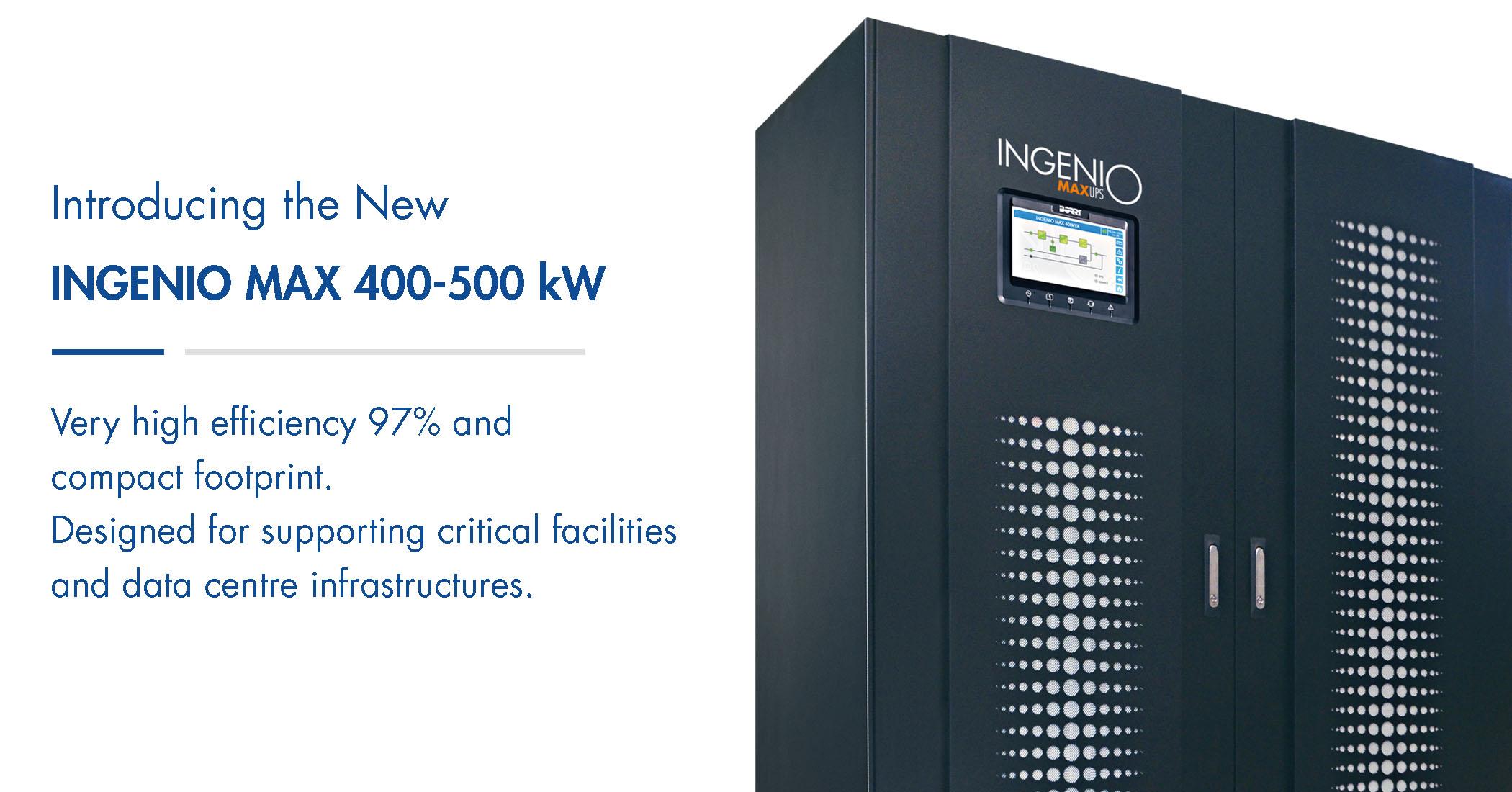 Ingenio MAX 400-500 kW UPS